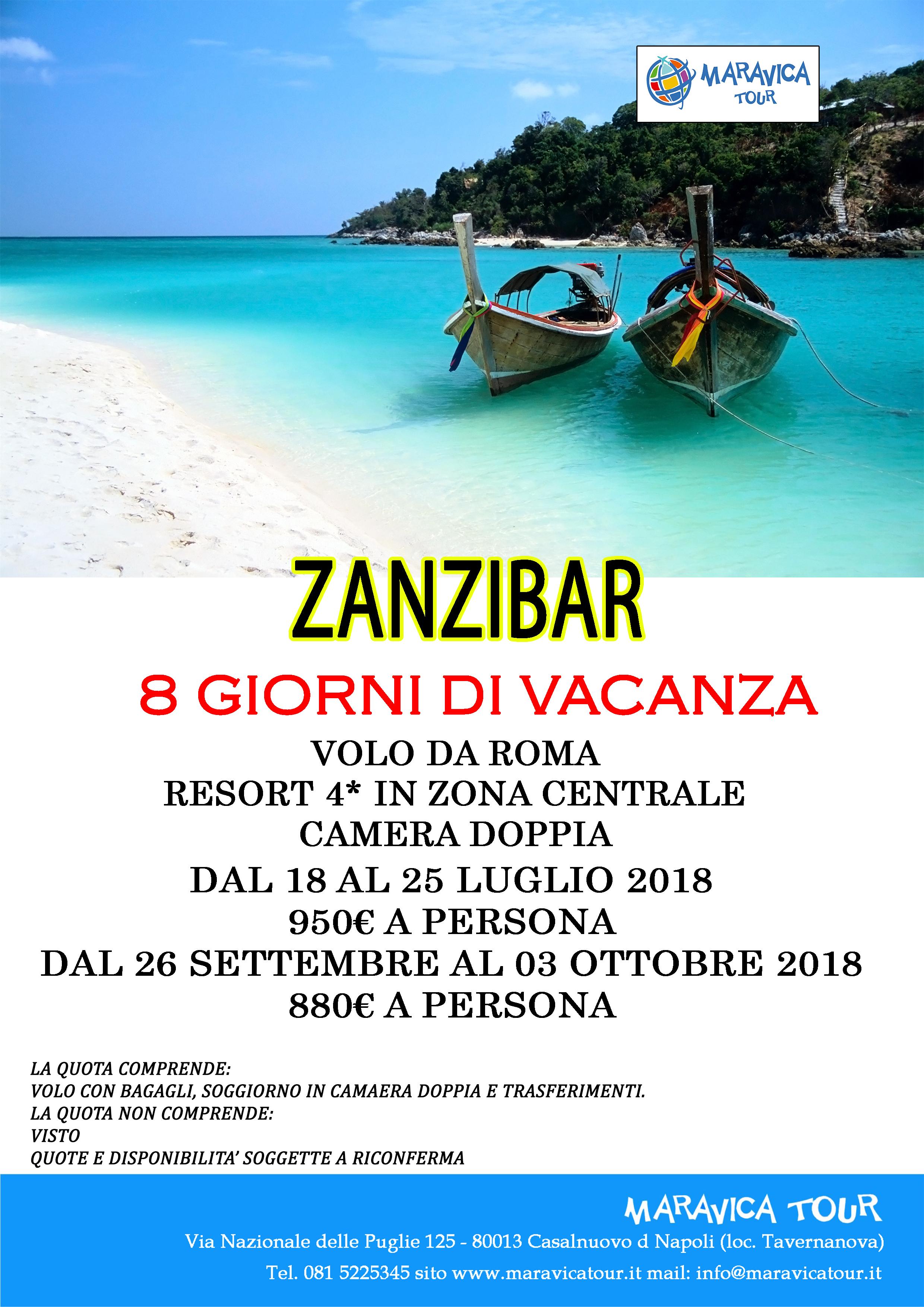8 GIORNI DI VACANZA A ZANZIBAR DA 880 € – Maravica Tour – Agenzia ...