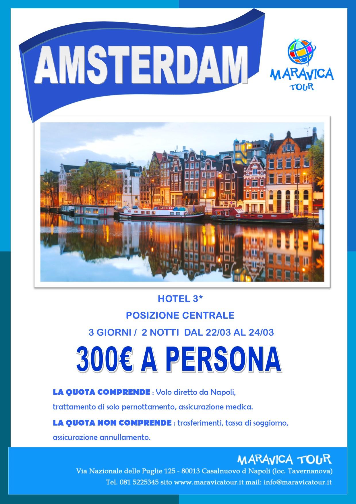 Amsterdam marzo 300 maravica tour agenzia viaggi for Tassa di soggiorno amsterdam